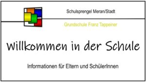 Read more about the article Willkommen FRANZ TAPPEINER 2021/2022